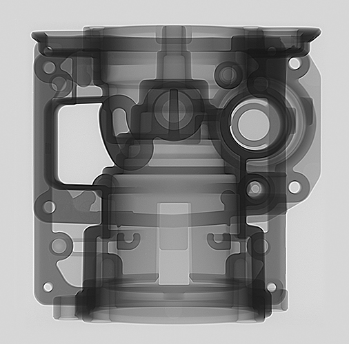 2D X-ray HDR MU2000 Foundry Aluminum cast part