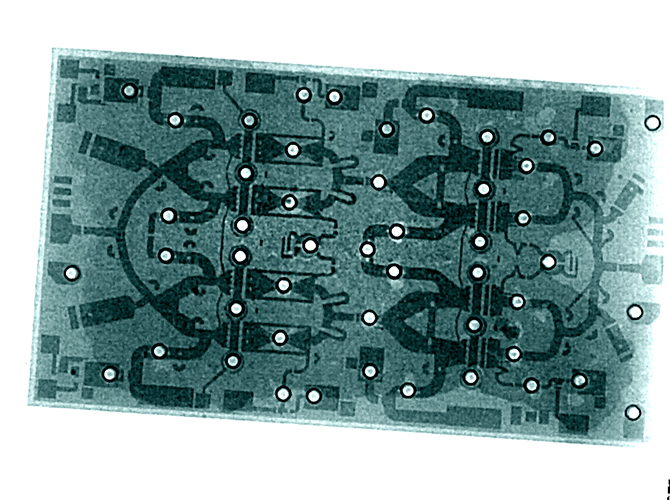 2D X-Ray with eHDR Cheetah Electronics IGBT-Pattern