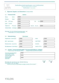 Supplier Self Assessment Form YXLON